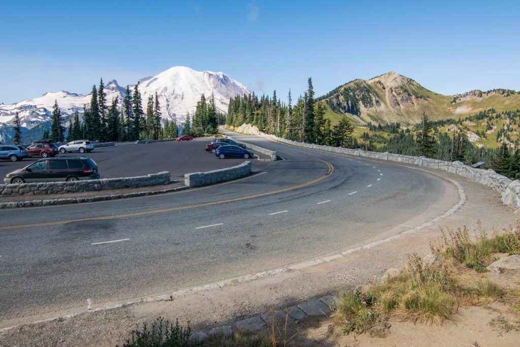 The drive up to Sunrise, Mount Rainier National Park