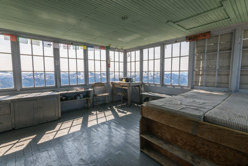 Hidden Lake Lookout hut, North Cascades National Park